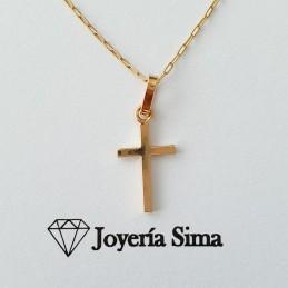 Cadena y cruz 1 en oro 18k