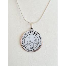Medalla bebé niño con sus...