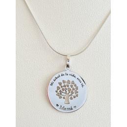 Medalla árbol de la vida mamá